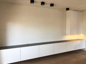 Ynteriors interieur Rotselaar tv kast schrijnwerker